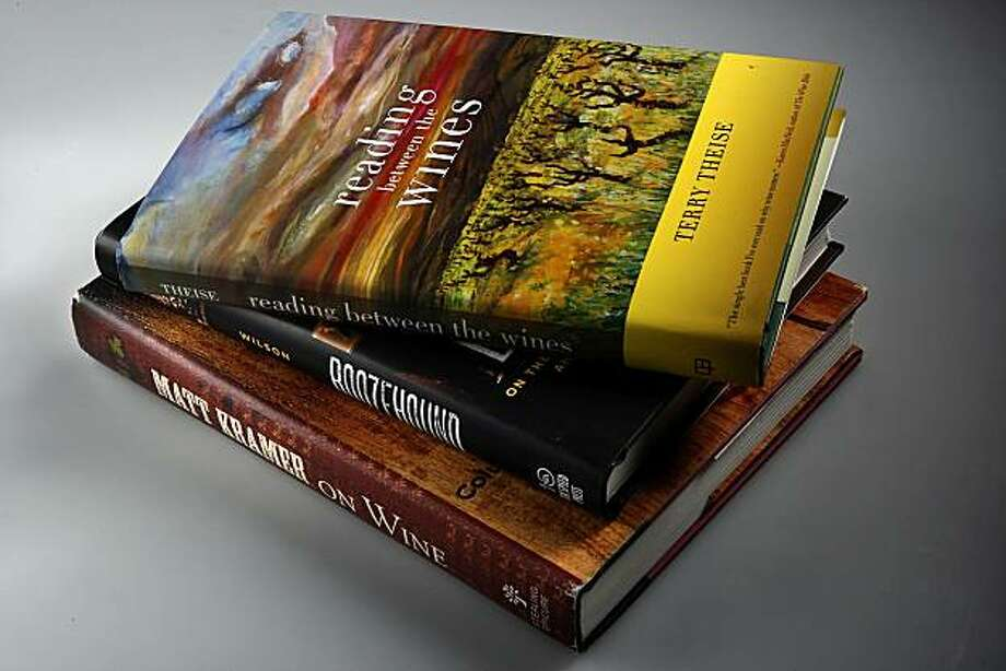 Wine books shot in a stack, on Tuesday, September 27, 2010 in San Francisco, Calif. Photo: Liz Hafalia, The Chronicle