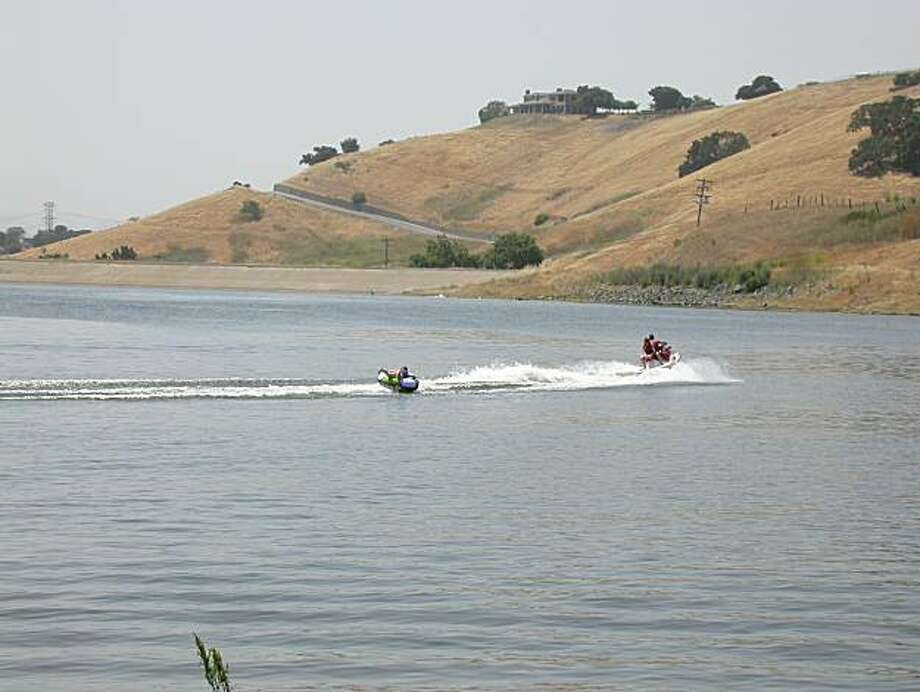 Calero Reservoir west of Gilroy is a prime spot for tubing in hot weather. Photo: Tom Stienstra