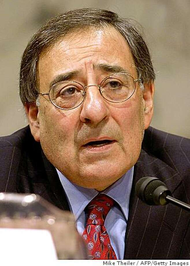 "Washington, UNITED STATES:  Iraq Study Group member and former Clinton Chief of Staff Leon E. Panetta makes remarks during a news conference after the Iraq Study Group delivered their report to President Bush and Congress, 06 December 2006 in Washington,DC. The bi-partisan group reported that the situation in Iraq is ""grave and deteriorating"", and offered recommendations to be taken.      AFP PHOTO/Mike Theiler  (Photo credit should read MIKE THEILER/AFP/Getty Images) Photo: Mike Theiler, AFP/Getty Images"