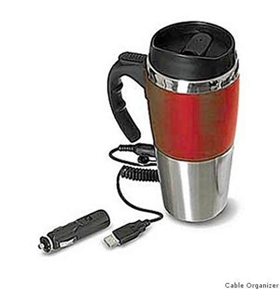 The heated travel mug, from CableOrganizer.com Photo: Cable Organizer