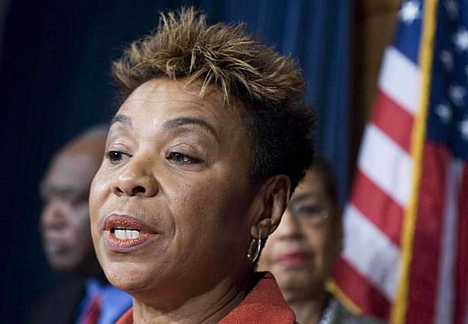 FILE - In this Nov. 19, 2008 file photo, incoming Congressional Black Caucus Chair Rep. Barbara Lee, D-Calif. speaks during a news conference on Capitol Hill in Washington. President Barack Obama's plan to send more U.S. troops into Afghanistan is being met with a relative shrug by the public. The president's new policy has not ignited switchboards and e-mail inboxes on Capitol Hill in the way other issues have.  (AP Photo/Manuel Balce Ceneta, File) Photo: Manuel Balce Ceneta, AP