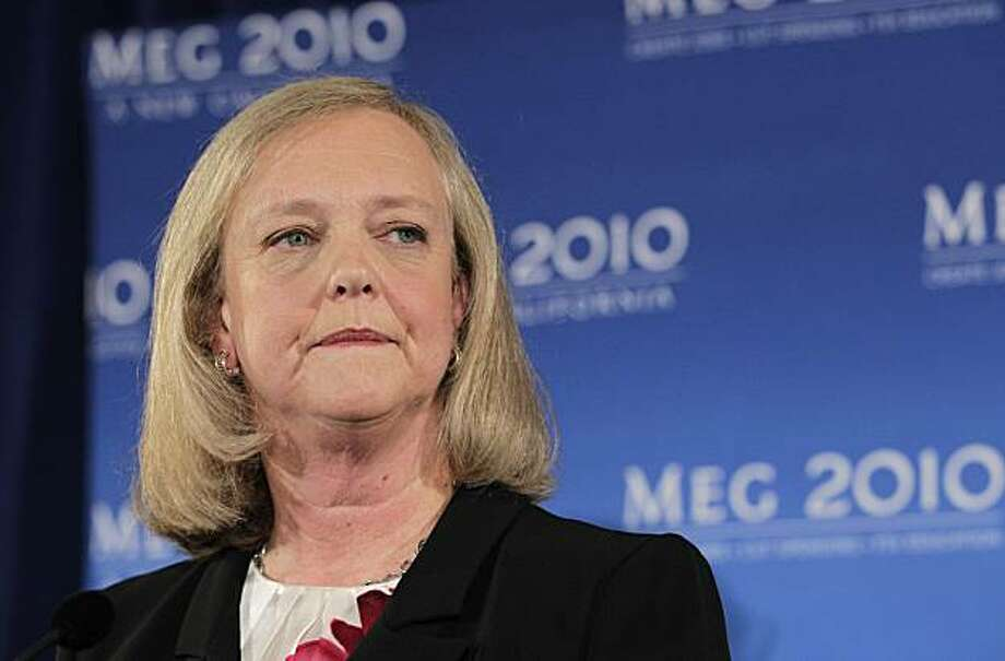 California Republican gubernatorial candidate Meg Whitman listens to a question from reporters during a news conference in Santa Monica, Calif., Thursday, Sept. 30, 2010. Photo: Jae C. Hong, AP