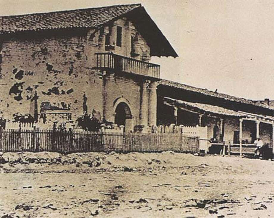 Mission Dolores in the early 1850's in San Francisco.