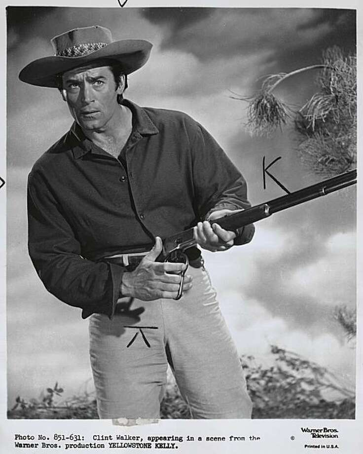 """Clint Walker in """"Yellowstone Kelly.""""Clint Walker in """"Cheyenne"""" TV show. Photo: Chronicle Library, San Francisco Chronicle"""
