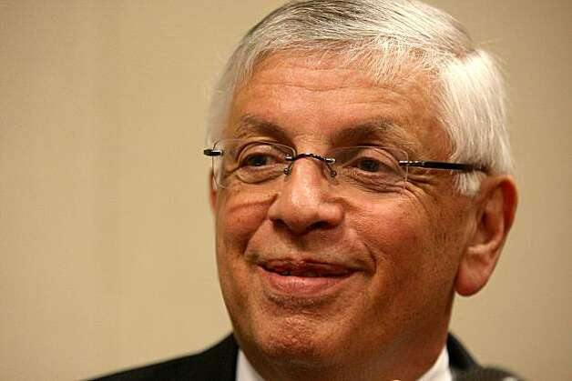 PORTLAND, OR - MARCH 04:  NBA Commisssioner David Stern speaks to the media before the start of the game between the Phoenix Suns and the Portland Trail Blazers at the Rose Garden on March 4, 2008 in Portland, Oregon.  NOTE TO USER: User expressly acknowledges and agrees that, by downloading and or using this Photograph, user is consenting to the terms and conditions of the Getty Images License Agreement.  (Photo by Jonathan Ferrey/Getty Images) Photo: Jonathan Ferrey, Getty Images