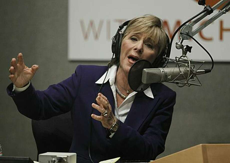 U.S. Senator Barbara Boxer (D-CA) speaks during a radio debate with U.S. Senatorial Republican opponent Carly Fiorina, from inside NPR Studios on September 29, 2010 in Washington, D.C. This will be their second debate in their race for the senate seat. Photo: Pool, Getty Images