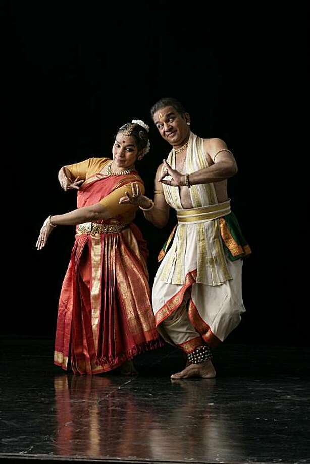 V.P. and Shanta Dhananjayan, Bharatanatyam dancers (a classical dance of India), will perform in the Chitresh Das Dance Company's festival. Photo: Chitresh Das Dance Company