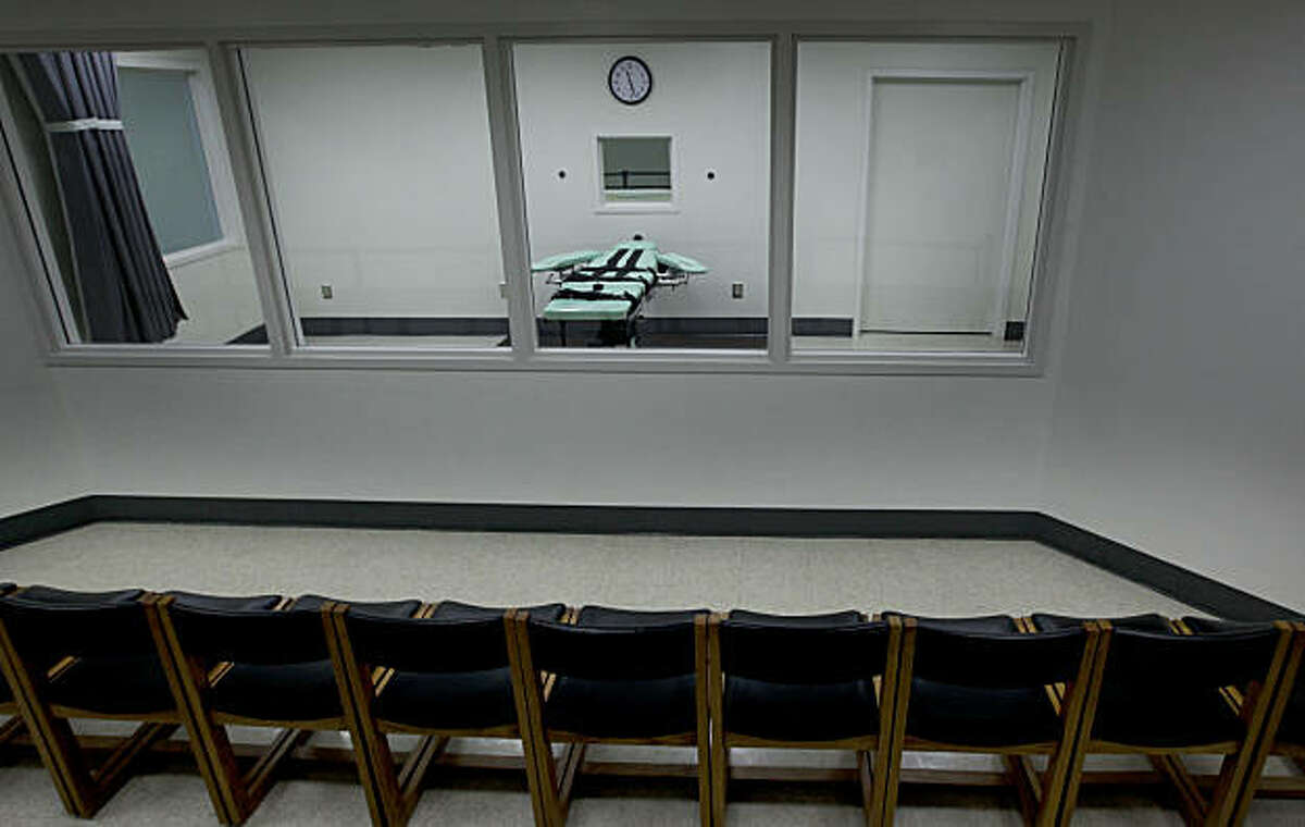 Observers will view the executions through a set of glass windows. Officials from San Quentin State Prison display the newly completed Lethal Injection Facility, on Tuesday Sept. 21, 2010 in San Quentin, Calif.