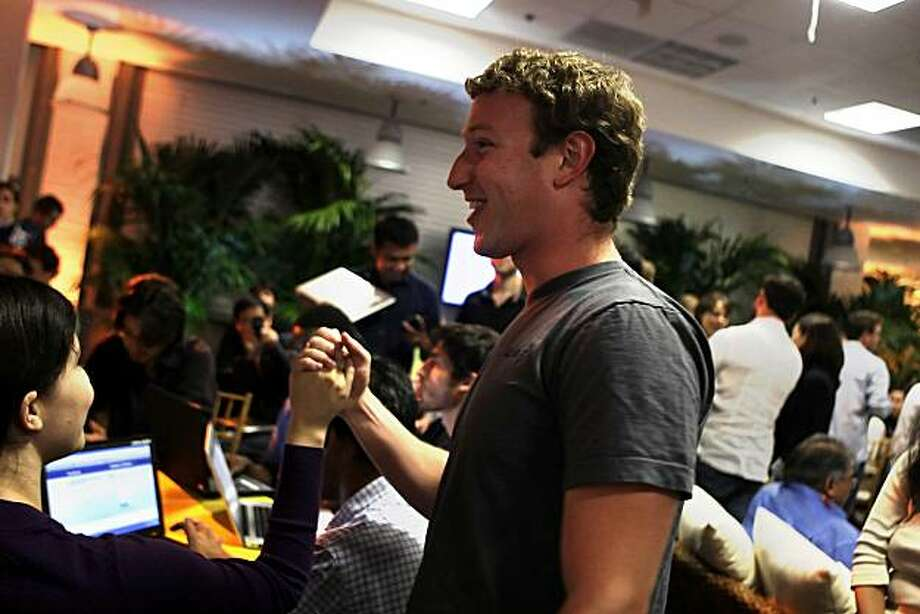 "Facebook founder and CEO Mark Zuckerberg  announces a new feature of Facebook named ""Places"" in Palo Alto, Calif. on Wednesday August 18, 2010.Places will allow users to share where you are, see where your friends are and discover new places. Photo: Lea Suzuki, The Chronicle"