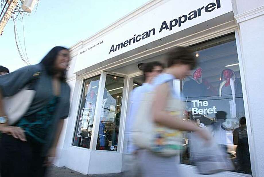 American Apparel is a less expensive brand that offers value in a tough economy instead of purchasing designer clothes on Saturday, Jan. 31, 2009 in Houston, TX.  ( Mayra Beltran / Houston Chronicle ) Photo: Mayra Beltran, Houston Chronicle