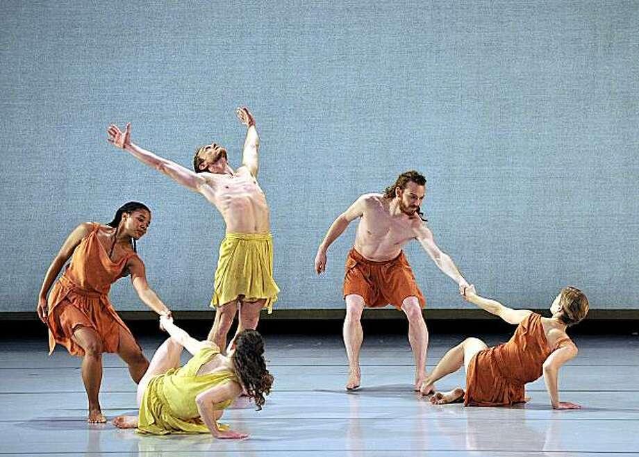 "Members of the Mark Morris Group perform ""Socrates,"" set to music by Satie Photo: Gene Schiavone, Mark Morris Group"