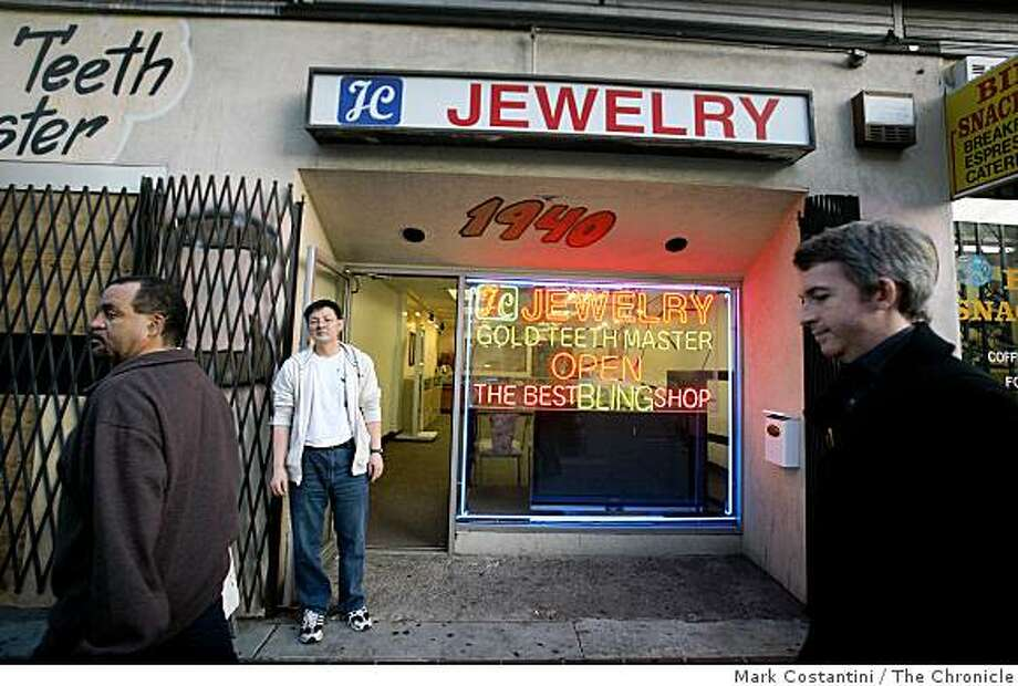 The JC Jewelry and gold teeth shop near the Fox Theater in Oakland, Calif. is photographed on Tuesday, February 3, 2009. Photo: Mark Costantini, The Chronicle
