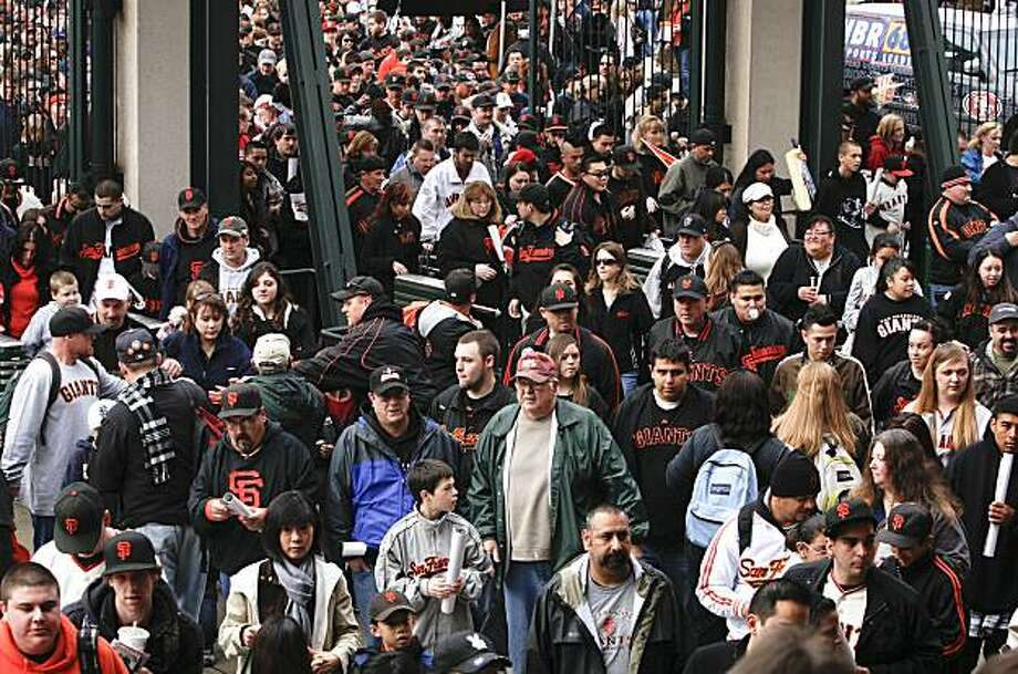 "The gates are opened for the San Francisco Giants 17th annual ""Fan Fest "", on Saturday February 06, 2010, in San Francisco, Calif. Photo: Michael Macor, The Chronicle"