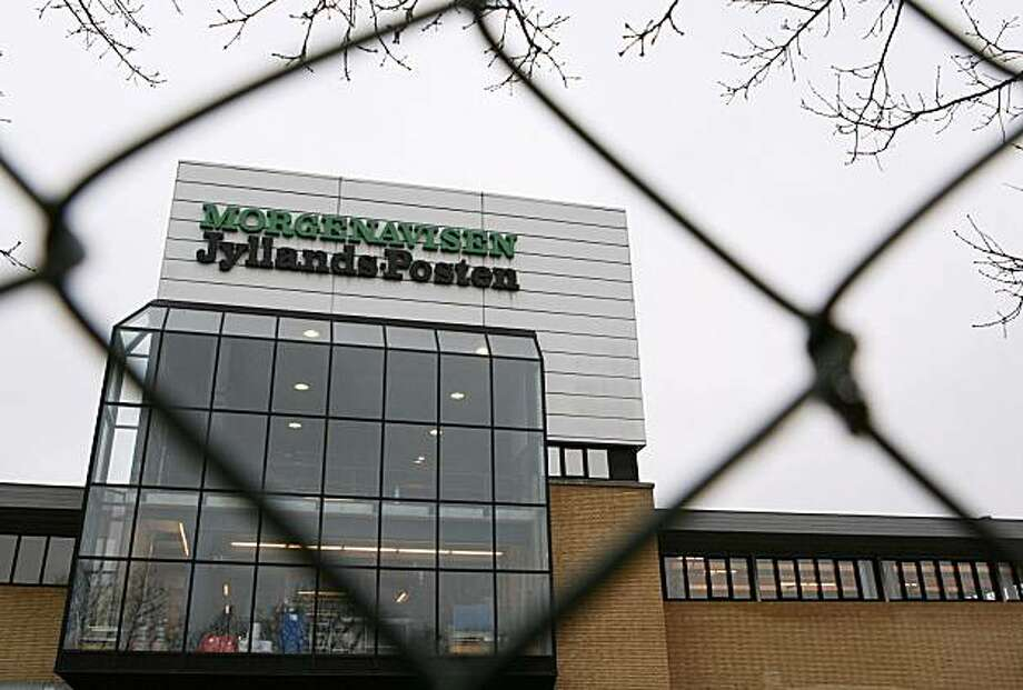 FILE - Undated file photo  of Danish newspaper Jyllands-Posten headquarters in arhus  Denmark . Three terror suspects who were arrested in an alleged al-Qaida plot in Norway were likely planning an attack against the Danish newspaper that caricatured the Prophet Muhammad, Norwegian and Danish police said Tuesday, Sep. 28, 2010. Photo: Kaare Viermose, AP