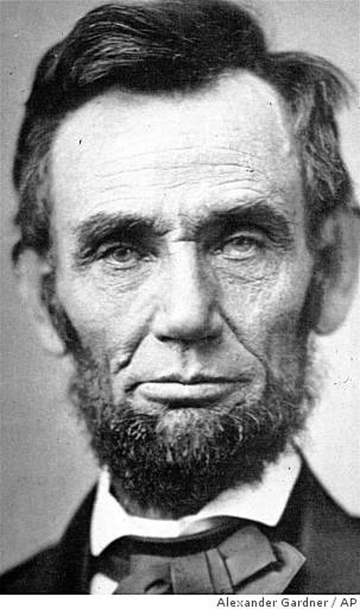 **ADVANCE FOR SUNDAY, FEB. 8** **FILE** Abraham Lincoln, is shown in this November 8, 1863 file photo. Lincoln sat for 33 photographers and 127 portraits, 37 of them by Gardner -