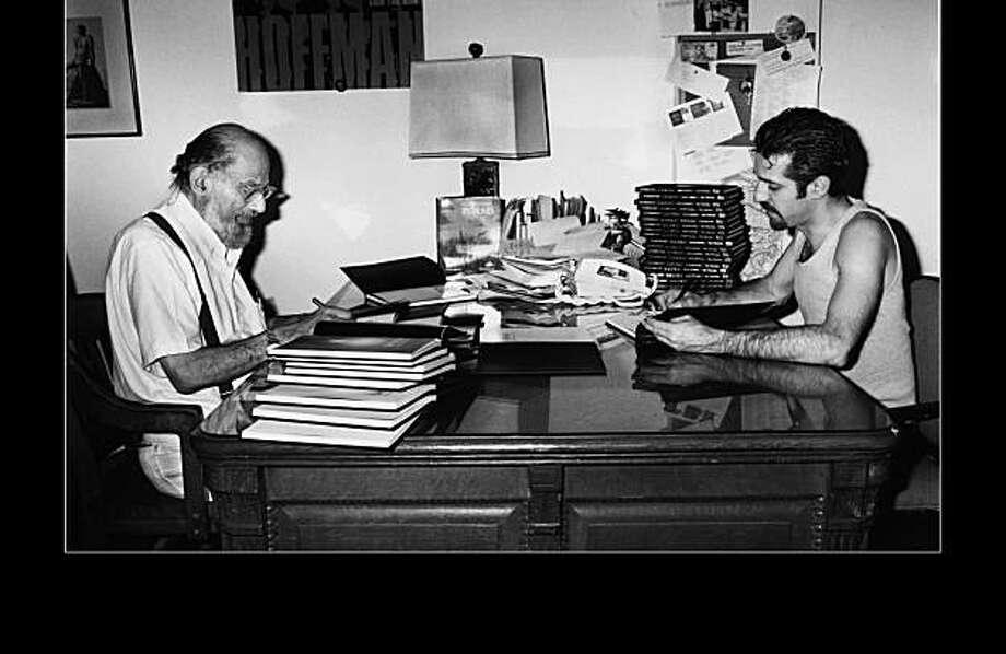Allen Ginsberg and Eric Drooker Photo: Ken Taranto