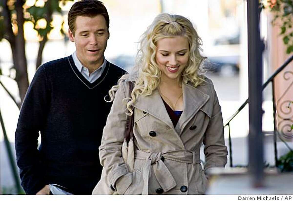 Kevin Connolly, left, and Scarlett Johansson are shown in a scene from the New Line Cinema film,