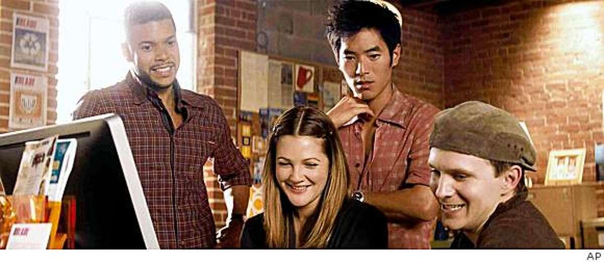 Actors, from left, Wilson Cruz, Drew Barrymore, Leonardo Nam and Rod Keller are shown in a scene from the New Line Cinema film,