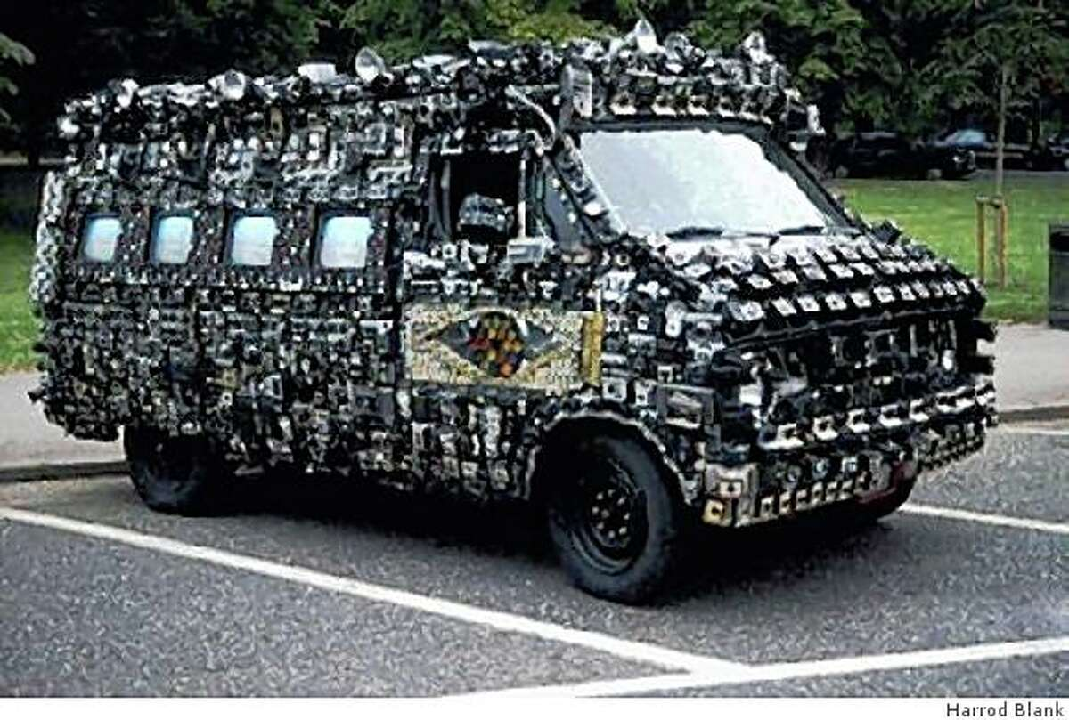Harrod Blank's Camera Van, which is mounted with 2,000 cameras, is featured in his documentary