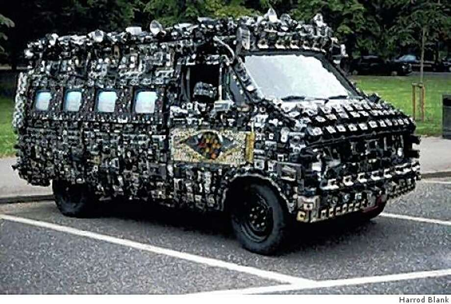 """Harrod Blank's Camera Van, which is mounted with 2,000 cameras, is featured in his documentary """"Automorphosis."""" Photo: Harrod Blank"""