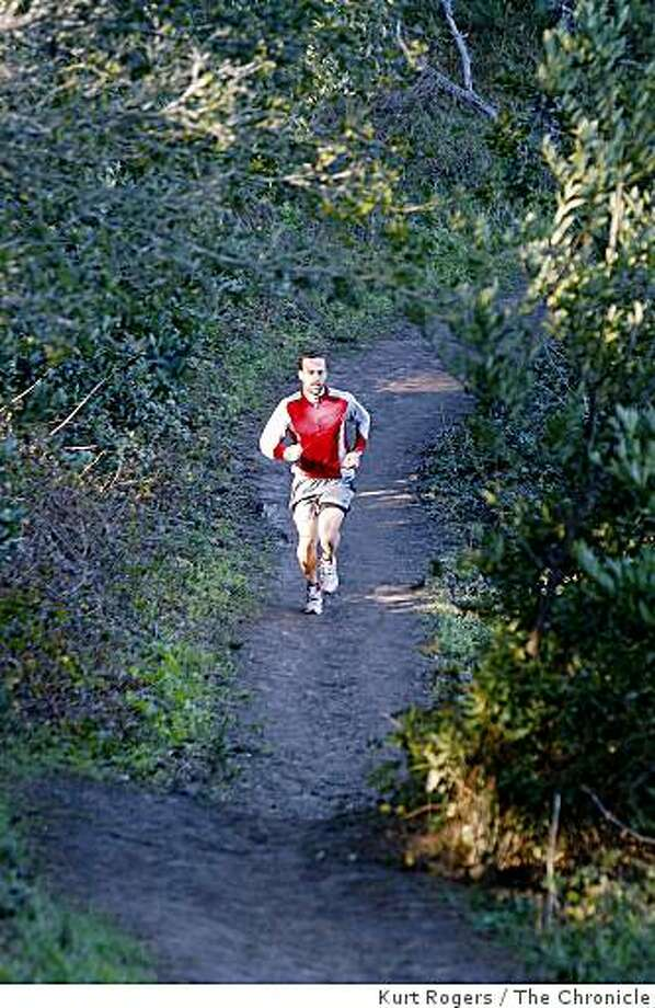 Jasper Halekas is an ultra runner training for the Western States 100 mile race in the hills above Berkeley. Photo: Kurt Rogers, The Chronicle