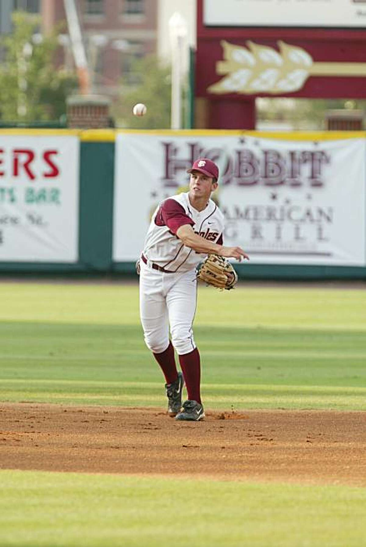 Buster Posey, playing shortstop for Florida State.