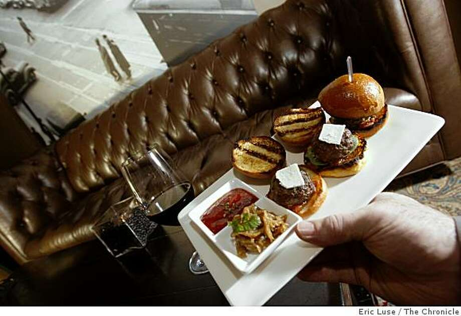 Lamb Sliders in the bar lounge of 1300 Fillmore Restaurant in San Francsico photographed on Friday, December 30, 2009. Photo: Eric Luse, The Chronicle