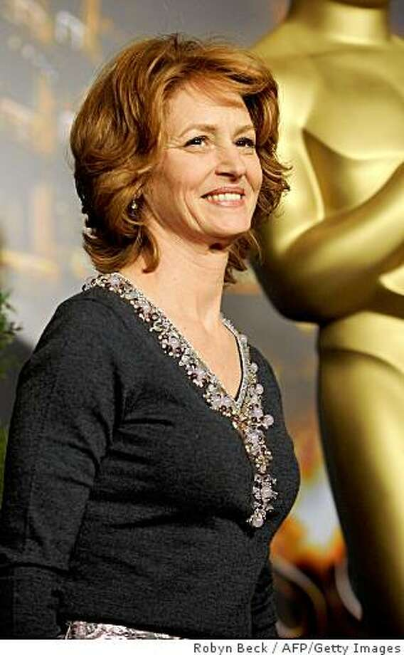 "Actress Melissa Leo arrives at the Academy Awards nominee luncheon at the Beverly Hilton Hotel in Beverly Hills, California on February 2, 2009.  Leo is nominated in the Best Actress category for ""Frozen River.""  The 2009 Academy Awards will be presented in Hollywood on February 22, 2009.  AFP PHOTO/ ROBYN BECK (Photo credit should read ROBYN BECK/AFP/Getty Images) Photo: Robyn Beck, AFP/Getty Images"