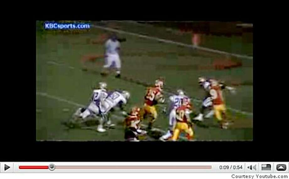 Video of running back Tyler Gaffney in Cathedral Catholic-San Diego game. http://youtube.com/watch?v=d0bClo8GaJs Photo: Courtesy Youtube.com