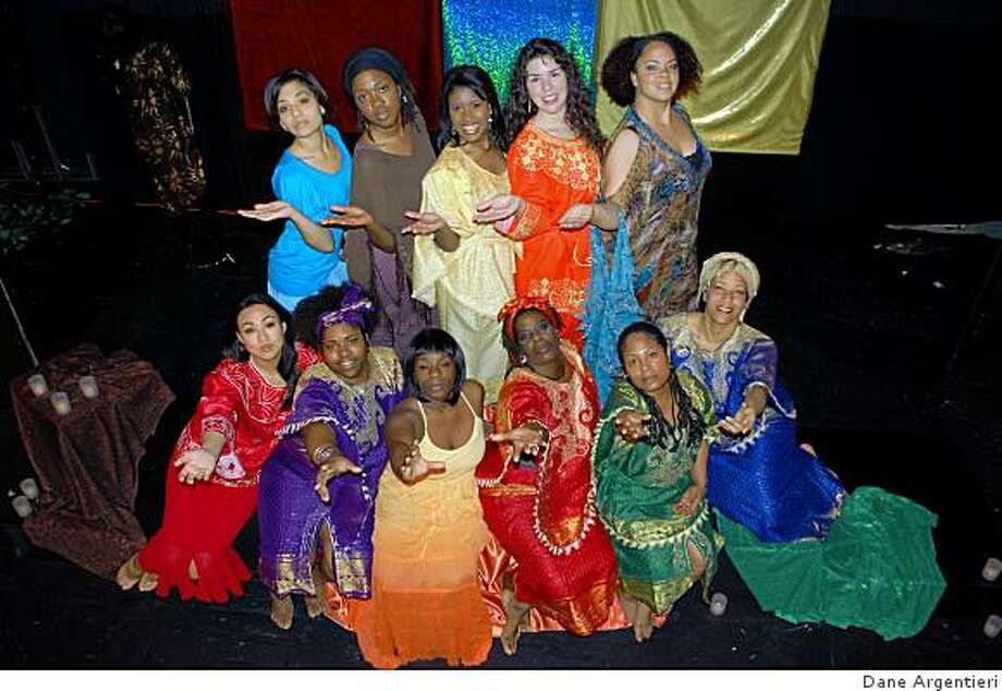"The cast of ""For Colored Girls Who Have Considered Suicide When the Rainbow is Enuf"" by Ntozake Shange: bottom row (from left to right) J. Nahry Tak, Cassandra A. Henderson, Lakeya Taylor, Frances Moore, Latasha Cahayag, Myisha Grist; top row (from left to right) Angela Davenport, Antoinette Cooper, Yasmine Love,Amelia Avila, Kate Purnell Photo: Dane Argentieri"