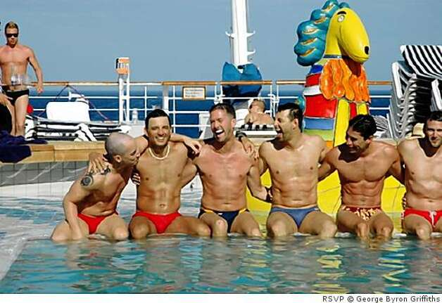 Travellers on an RSVP chartered gay and lesbian cruise.