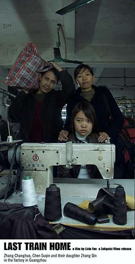 Zhang Changhua, Chen Suqin and their daughter Zhang Qin in the factory in Guangzhou in LAST TRAIN HOME.Zhang Changhua, Chen Suqin and their daughter Zhang Qin in the factory in Guangzhou in LAST TRAIN HOME.  Zhang Changhua, Chen Suqin and their daughter Zhang Qin in the factory in Guangzhou in LAST TRAIN HOME. Photo: Zeitgeist Films