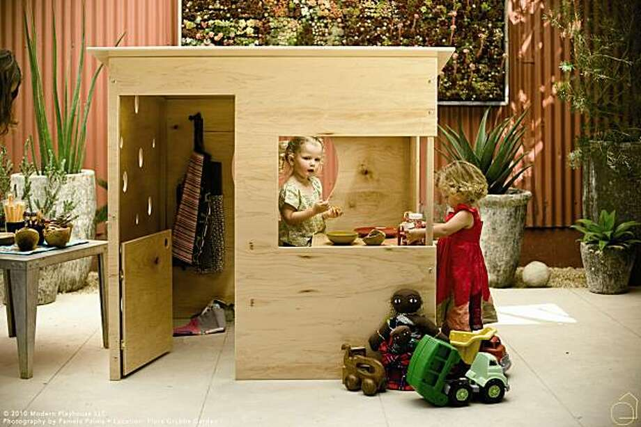 Modern Playhouse's sustainable, modular structures for toddlers. Photo: Modern Playhouse