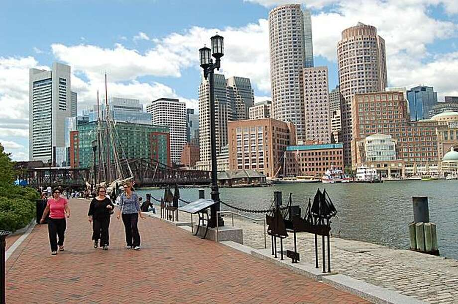 Boston's sumptuous Harborwalk. Photo: Greater Boston, Convention And Visitors Bureau
