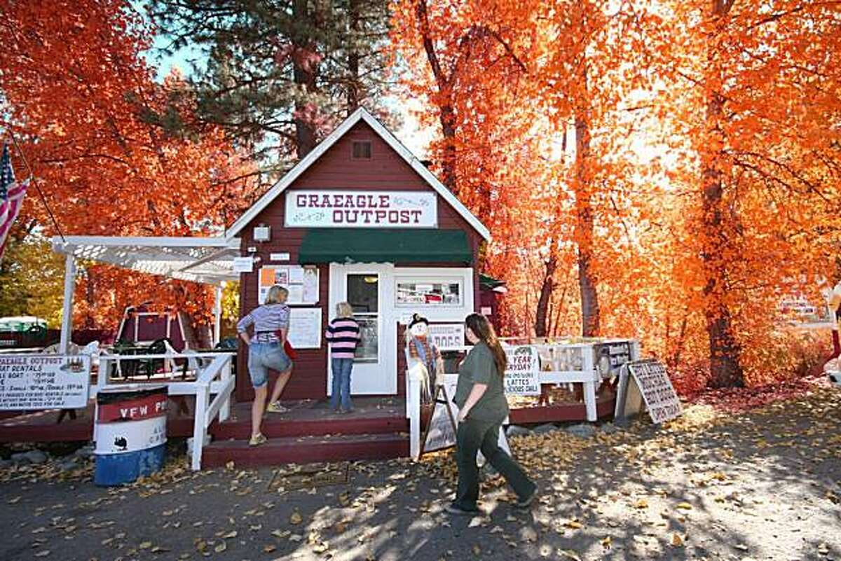 Fall colors at Graeagle, Plumas County.