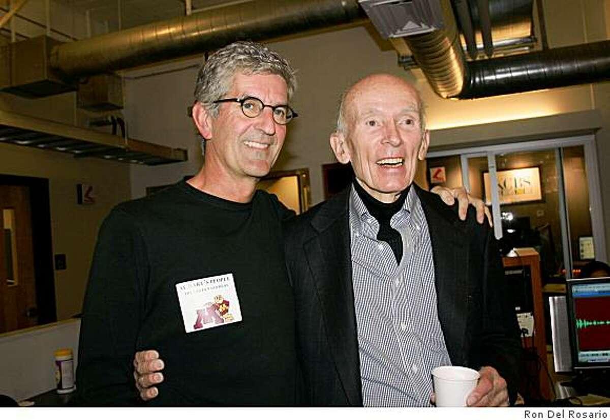 Stan Bunger (left) and Al Hart of KCBS Radio.