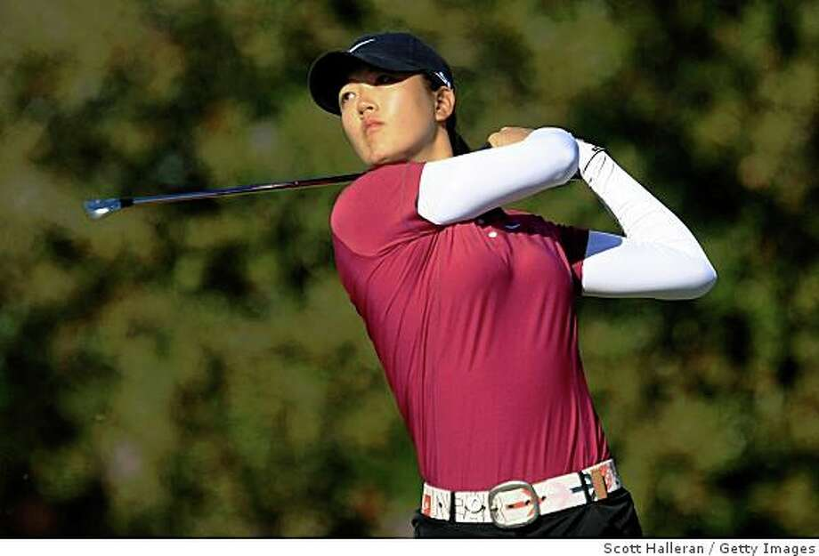 DAYTONA BEACH, FL - DECEMBER 07:  Michelle Wie hits her tee shot on the 17th hole during the final round of the LPGA Qualifying School at LPGA International on December 7, 2008 in Daytona Beach, Florida.  (Photo by Scott Halleran/Getty Images) Photo: Scott Halleran, Getty Images