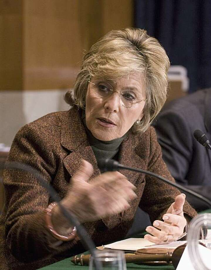 Senate Environment and Public Works Committee Chair Sen. Barbara Boxer, D-Calif. presides over the markup on the Climate Change legislation, Tuesday, Nov. 3, 2009, on Capitol Hill in Washington. (AP Photo/Harry Hamburg) Photo: Harry Hamburg, AP