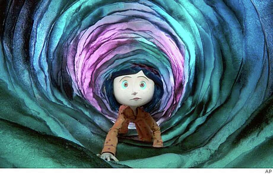 "In this image released by Focus Features, a scene is shown from the animated film, ""Coraline."" Photo: AP"
