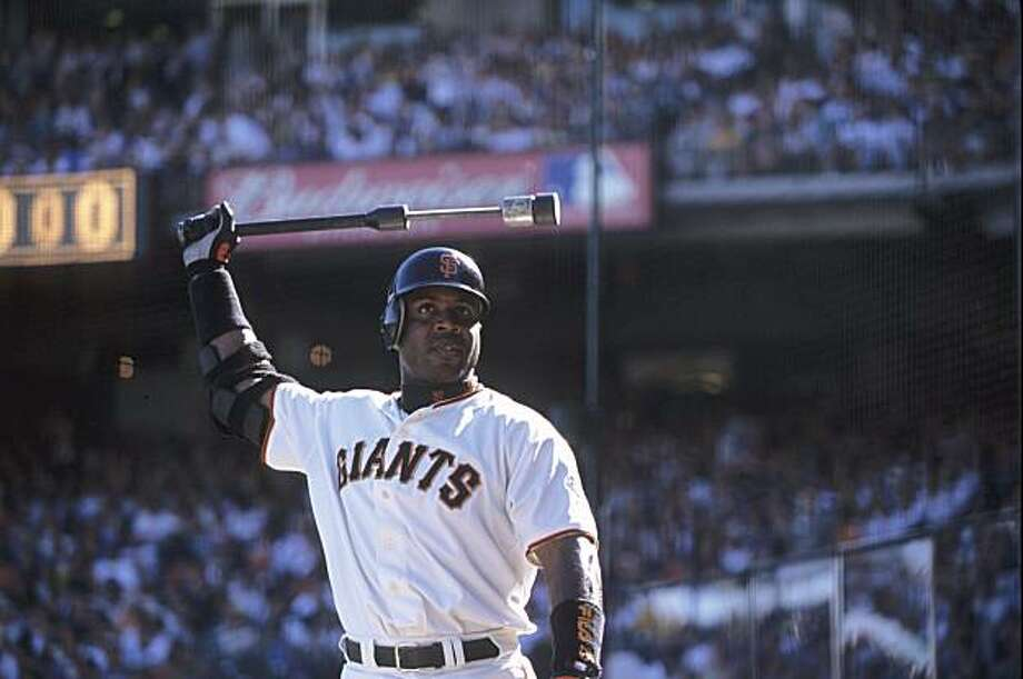San Francisco Giants Barry Bonds is seen during game against the San Diego Padres at AT&T Park in San Francisco, Calif., on Sept. 30, 2001. Photo: Heinz Kluetmeier, Sports Illustrated/Getty Images