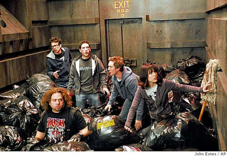 "In this image released by The Weinstein Company, Jay Baruchel, Dan Fogler, Chris Marquette, Sam Huntington and Kristen Bell are shown in a scene from ""Fanboys."" Photo: John Estes, AP"