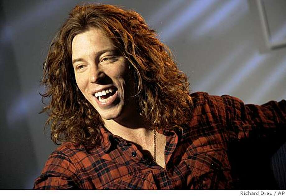 Olympic gold medalist snowboarder Shaun White is interviewed in New York, on Wednesday, Feb. 4, 2009. This week, he's leaving the mountain for Manhattan, competing on a nine-story ramp with the city skyline as the backdrop.  (AP Photo/Richard Drew) Photo: Richard Drew, AP