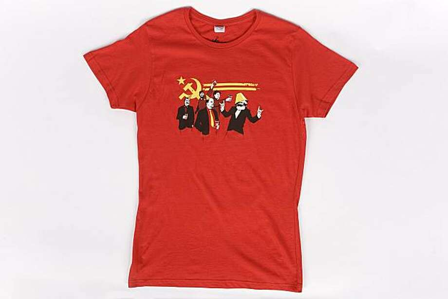 The Communist Party t-shirt was designed by Tom Burns in January of 2006 and is one of the best-sellers on the threadless.com Web site.  Photo courtesy of threadless.com Photo: Threadless.com, Courtesy To The Chronicle