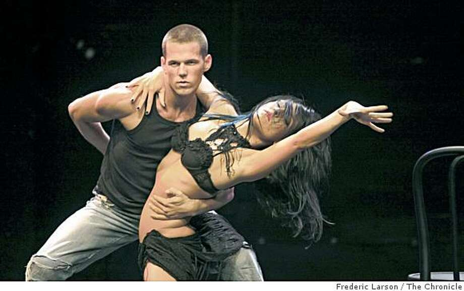 "Patrick Helm and Sharna Burgress are performers that will be performing in a dance production called ""Burn the Floor,"" in Feburary 2009 at the Post Street theater in San Francisco, Calif. Photo: Frederic Larson, The Chronicle"