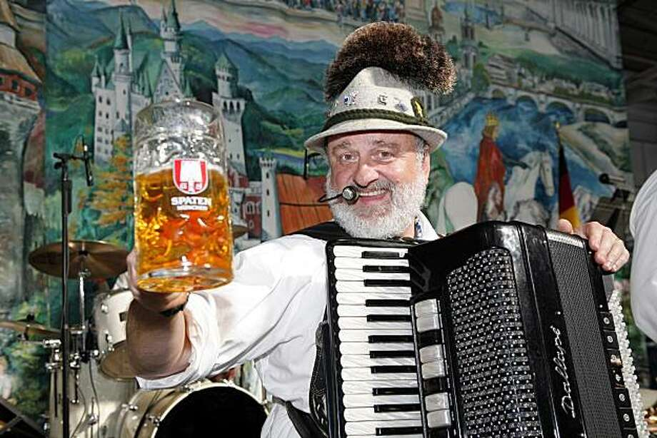 Unidentified singer with the Chico Bavarian Band, performing at Oktoberfest by the Bay, at Pier 48 San Francisco Photo: Courtesy Of Ed Smith