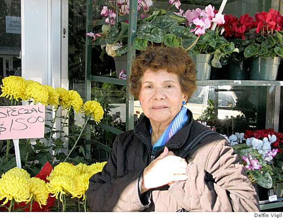 Pictured: Irma Bush, retired homemaker from the Marina. one of the folks we chatted up at the San Francisco Flowermart for the Chronicle's new People Meter feature. Photo: Delfin Vigil