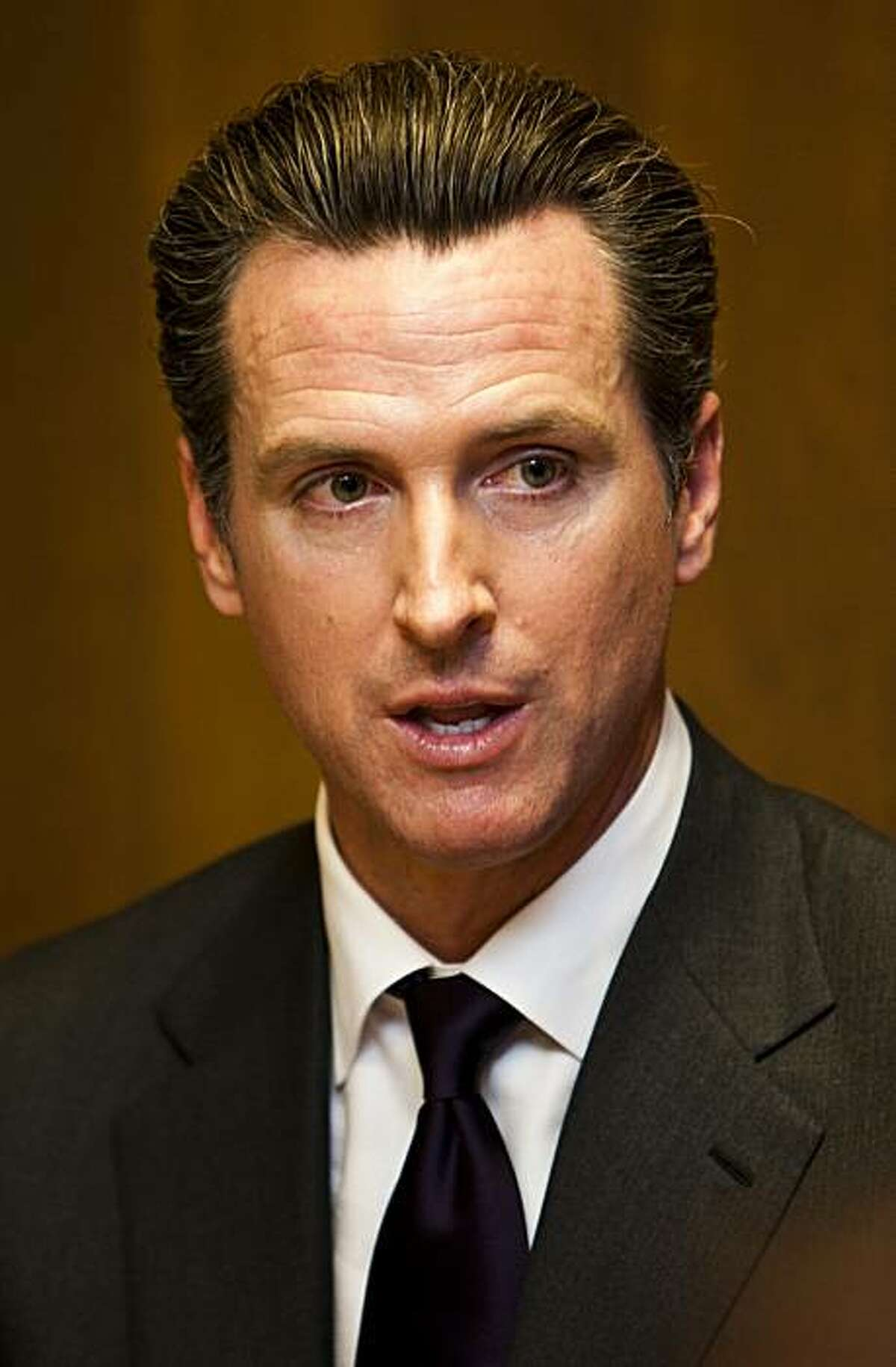 San Francisco Mayor Gavin Newsom, Democratic candidate for lieutenant governor of California, met with the San Francisco Chronicle Editorial Board on Wednesday, Sept. 15, 2010.