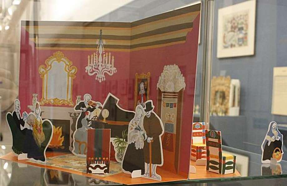 Skeletons in the parlor--there's a Day of the Dead theme in this toy theatre from Mexico. Photo: Karen Law