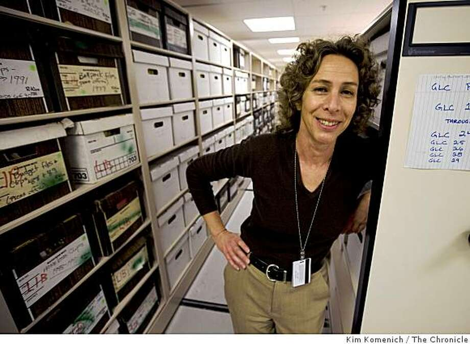San Francisco Public Library Archivist Susan Goldstein stands in one of the rooms housing archive at the library in San Francisco, Calif., on Friday, Jan. 23, 2009. Photo: Kim Komenich, The Chronicle
