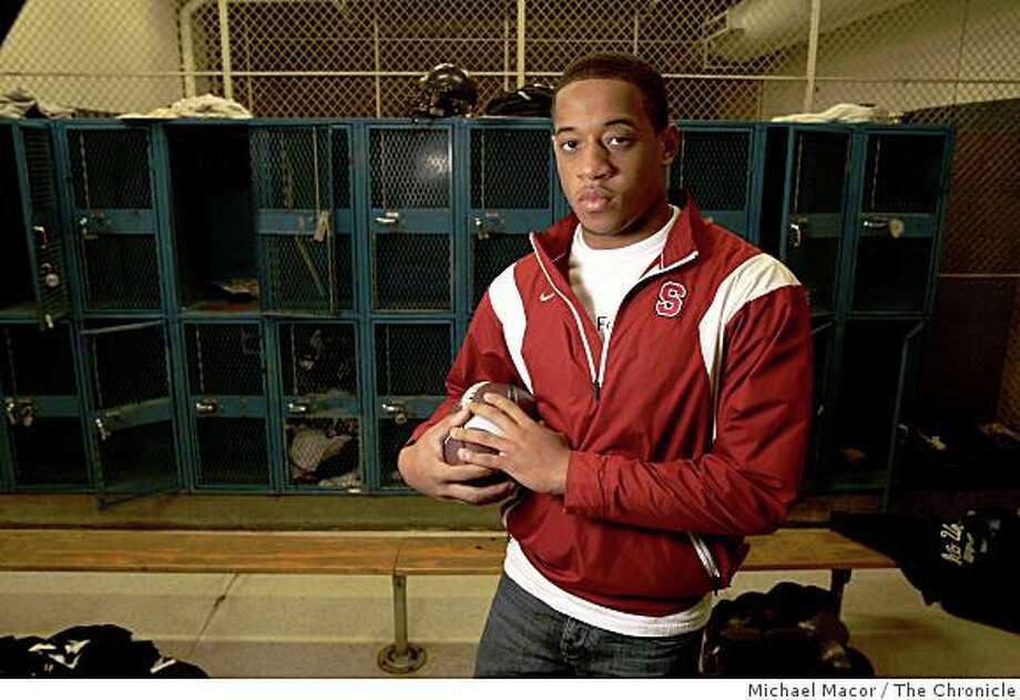 Star, high school running back, Usua Amanam at Bellarmine College Prep High School in  San Jose, Calif., on Thursday Dec. 18, 2008 Photo: Michael Macor, The Chronicle